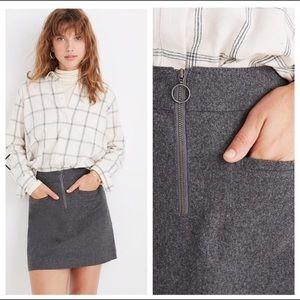 🆕 Madewell Fireside Wool Blend Mini Skirt